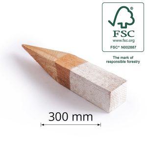 Light Hardwood Boundary Peg for Surveying