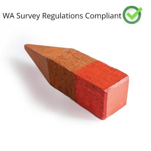 Jarrah Boundary Peg for Surveying