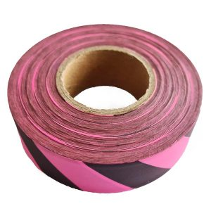 Pink Black Flagging Tape